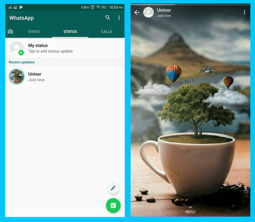 How to keep WhatsApp status Photos and videos without screenshots